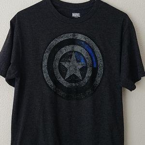 Marvel Mens Dark Gray Graphic Shirt